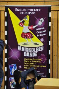 Plakat Maiskolbenbande englisches Theater